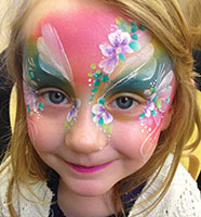 Child Face painted for a birthday party celebration