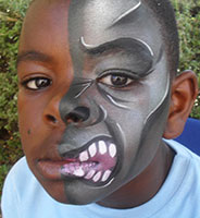 Childrens birthday party facepainting