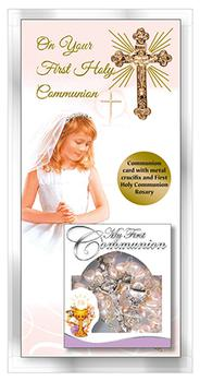 Communion Card for a Girl.