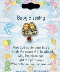 Baby Blessings Brooch with Swarovski Crystal.