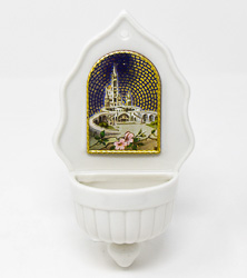 Lourdes sanctuary Holy Water Font.