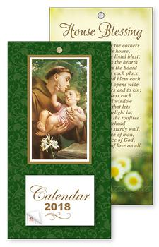 2018 St. Anthony Standing Calendar.