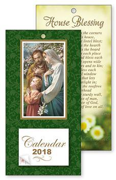 2018 Holy Family Standing Calendar.
