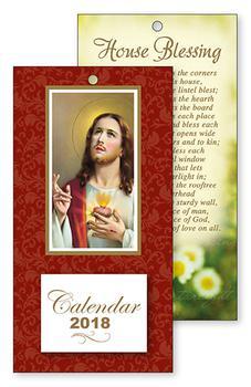 2018 Sacred Heart of Jesus Standing Calendar.