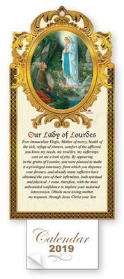 2019 Calendar Lourdes Apparitions