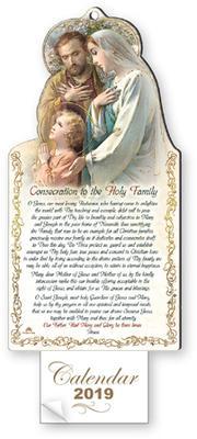 2019 Calendar Holy Family.