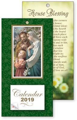 2019 Holy Family Standing Calendar.
