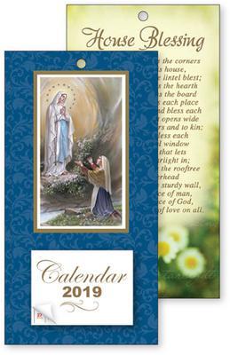 2019 Lourdes Standing Calendar.