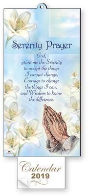 2019 Serenity with Praying Hands Calendar.
