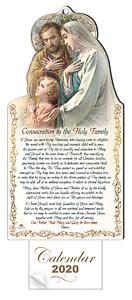 2020 Calendar Holy Family.