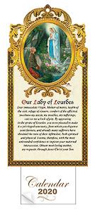 2020 Calendar Lourdes Apparitions.