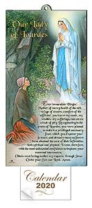 2020 Lourdes Apparition Calendar.