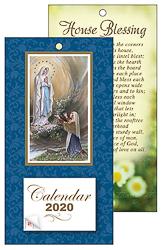2020 Lourdes Standing Calendar.