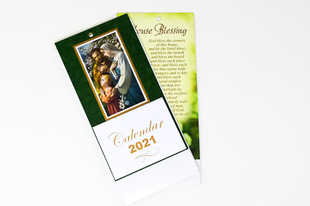 2021 Holy Family Standing Calendar.