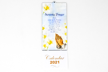 2021 Serenity with Praying Hands Calendar.