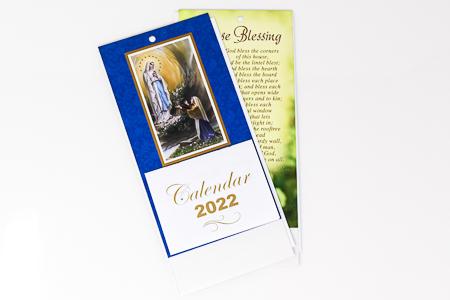 2022 Lourdes Standing Calendar.