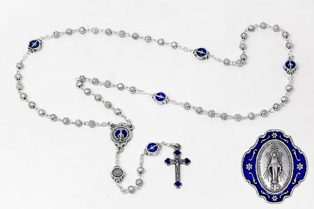 Miraculous Metal Rosary & Medal Box.