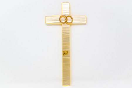 25th Wedding Anniversary Porcelain Cross