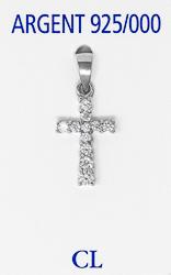 Cubic Zirconium Silver Cross.