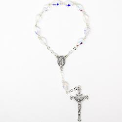 Sterling  Swarovski One Decade Rosary.