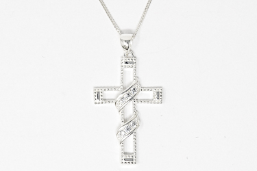 Sterling Silver Cross Necklace.