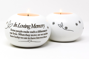 In Loving Memory Candle Holder.