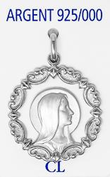925 Our Lady of Lourdes Pendant.