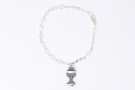 Acrylic Crystal Rosary Bracelet.