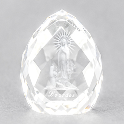 Lourdes Apparition Paperweight.