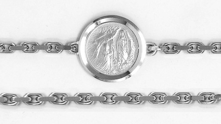 Apparition Sterling Silver Bracelet with Rhodium Plating