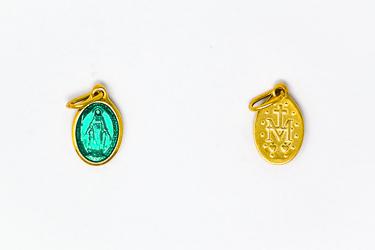 Gold Enamel Miraculous Medal.