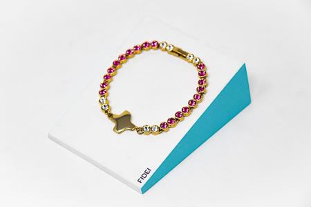 Amethyst Swarovski Bracelet.
