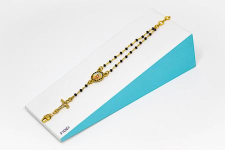 Black Fidei Rosary Bracelet.