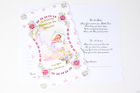 Keepsake Christening Booklet.
