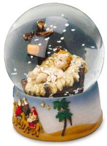 Holy Family Nativity Water Ball.