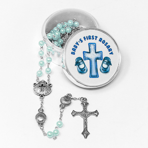 Baby Blue Rosary Beads