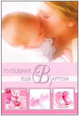 Baptism Card for a Baby Girl.