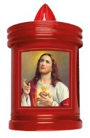 Sacred Heart of Jesus Grave Candle.