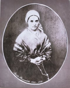 Photo of St Bernadette.