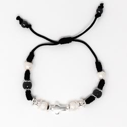 Black Cross Rope Bracelet.