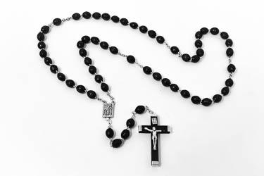 Black Rosary Beads.