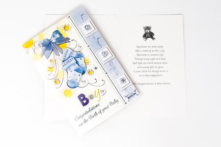 Blue Baptism Card.