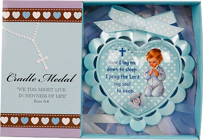 Blue Baby Cradle Medal.