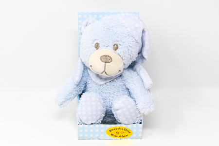 Blue Musical Baby Plush Bear.