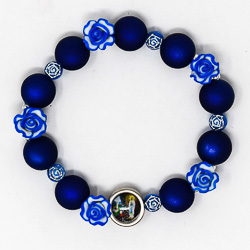 One Decade Blue Rosary Bracelet.