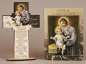 Saint Joseph Booklet & Wood Cross.