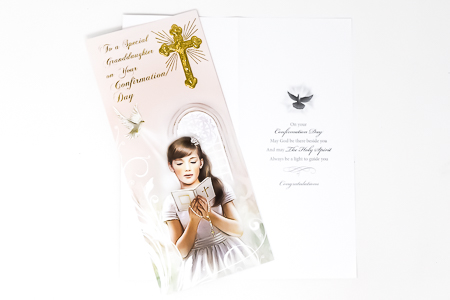 Confirmation Card Granddaughter.