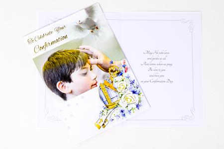 Confirmation Card for a Boy.