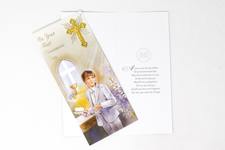 Boy's Communion Card Boxed.