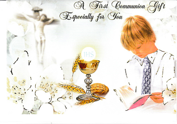 Boy's Communion Money Gift Card.